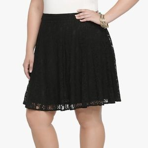 Torrid - Black Lace Skater Skirt NWT